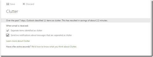 Clutter Settings