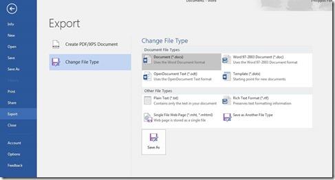 Change File Type