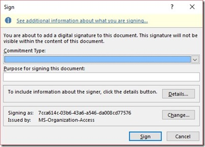 Sign In Dialog Box