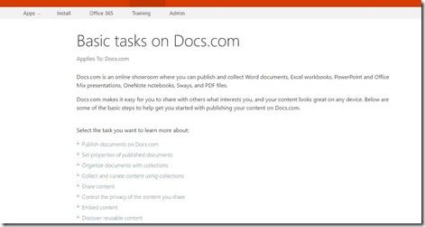 Basic Tasks On Docs.com