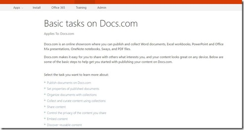 Basic Tasks On Docs.com