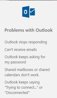 Support And Recovery Assistant Outlook 365 | officesmart