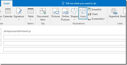 Insert Icons In Outlook 365
