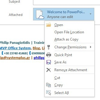 Link Attachments in Outlook 365 | officesmart