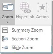 Zoom Drop Menu