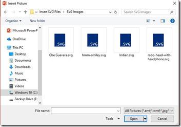 Insert SVG Files