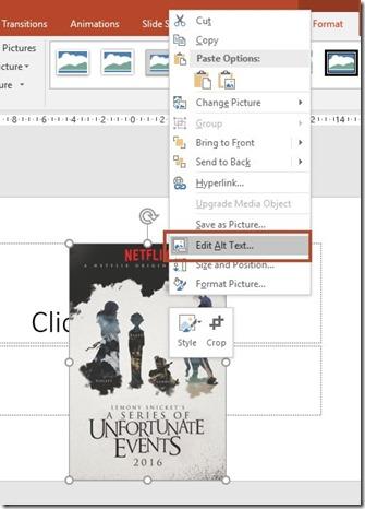 Shortcut Menu - Edit Alt Text