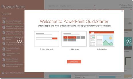Welcome To PowerPoint Quickstarter