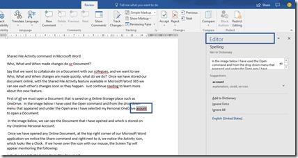 Editor Task Pane