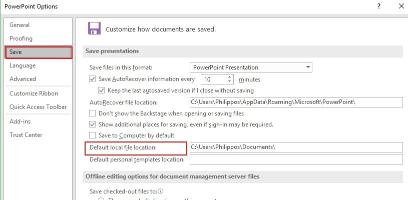 Set a default folder in microsoft office officesmart toneelgroepblik Image collections
