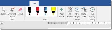 Draw Tab in Office 365