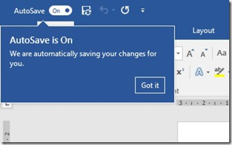 AutoSave is On