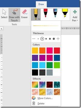 Pens in Office 365