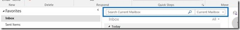 Search Current Mailbox