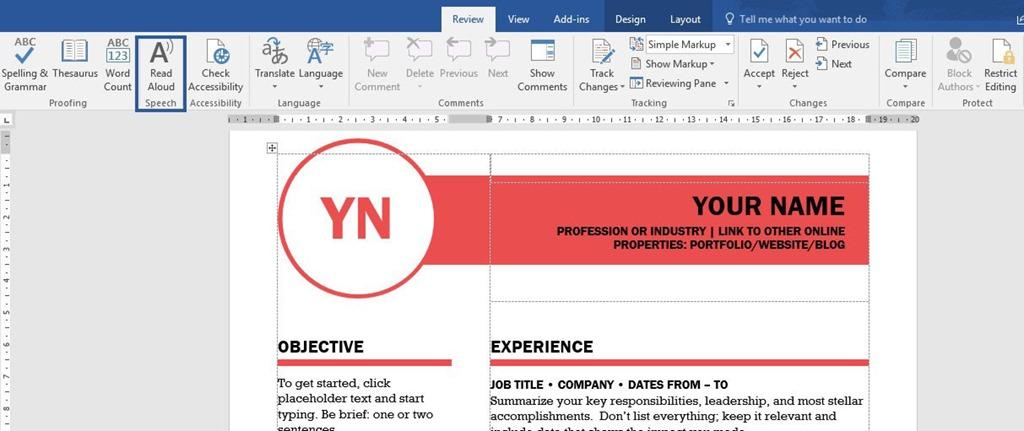 Read Aloud in Microsoft Word 365 | officesmart