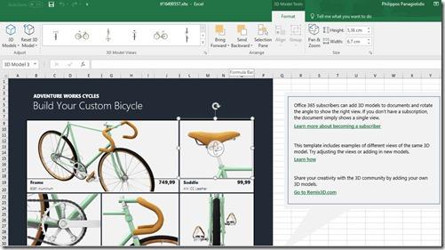 3D Model Tools Excel