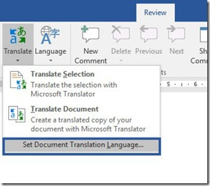 Review - Set Translation Language