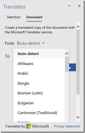 Translator Pane - Autodetect