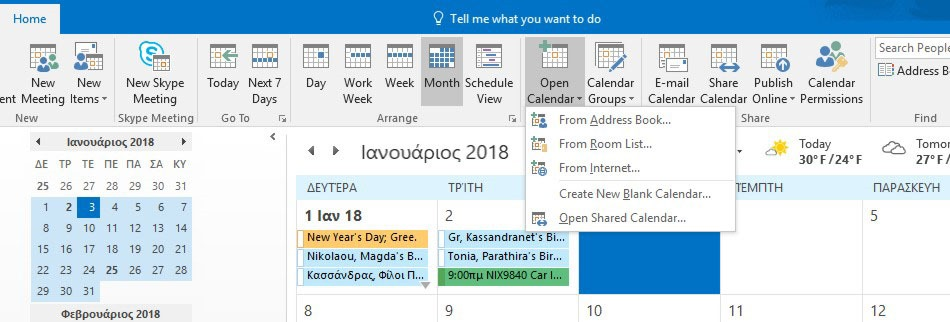Open Calendars from other Sources in Outlook 365 | officesmart
