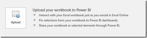 Upload Workbook To Power BI