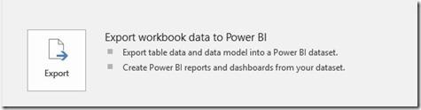 Export Workbook Data To Power BI
