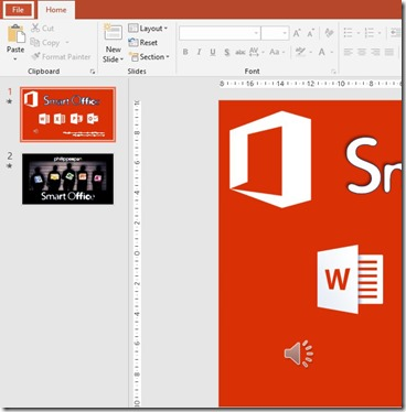 File Menu in PowerPoint