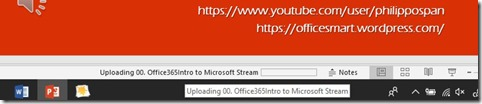 Uploading Video To Microsoft Stream