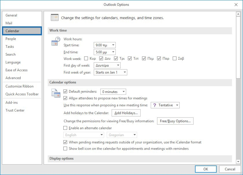 How To Set Working Hours and Days in Outlook | officesmart