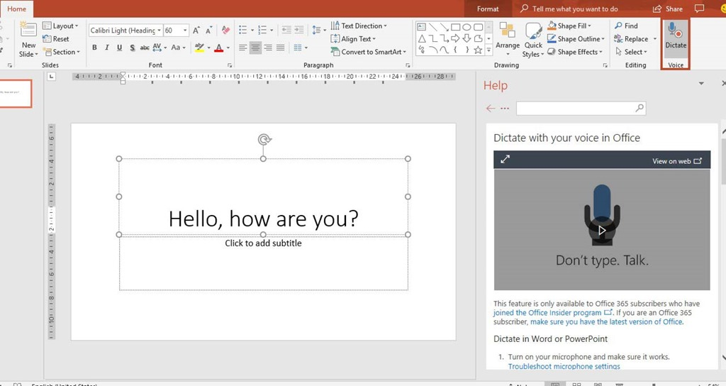 Dictate Text in Microsoft Office 365 Applications | Smart Office