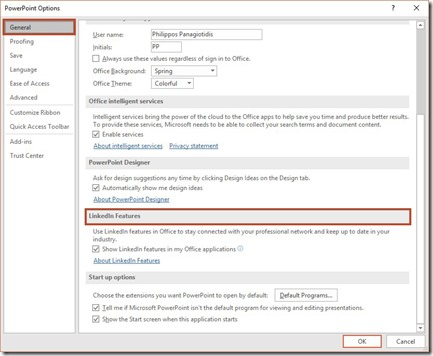 LinkedIn Features in Microsoft PowerPoint 365