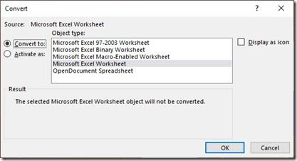 Convert Worksheet