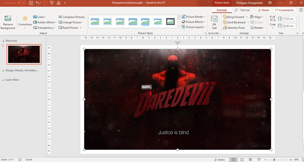 What Are The Transparency Options in PowerPoint 365