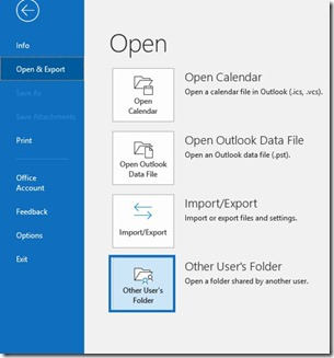 Other Users Folder Command