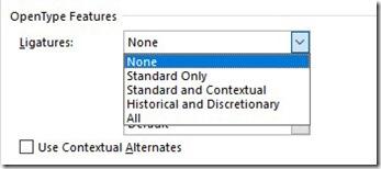 OpenType Features - Ligatures