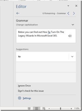 Editor Pane in Microsoft Word