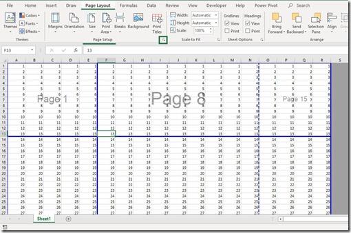 Page Layout Tab - Page Setup Area