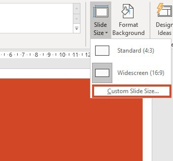 How To Change The Size and the Orientation of a PowerPoint