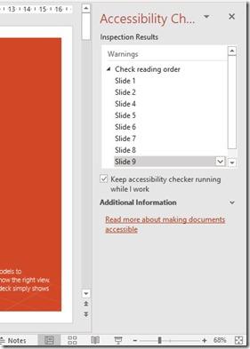 Accessibility Checker Task Pane