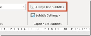 Captions and Subtitles