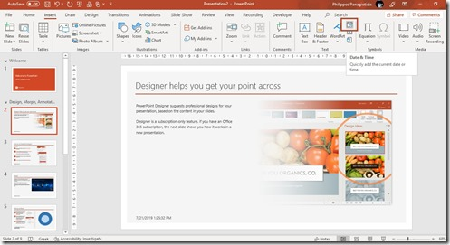 How To Quickly Add Date and Time In PowerPoint