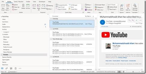 Relaxed or Tighter Layout in Outlook