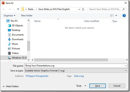 How To Save Slides as SVG Files In PowerPoint