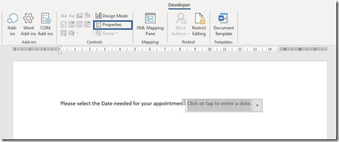 How To Create A Date Picker Control in a Microsoft Word Document?