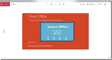 How To Export A Presentation Slide As Animated Gif in Microsoft PowerPoint?